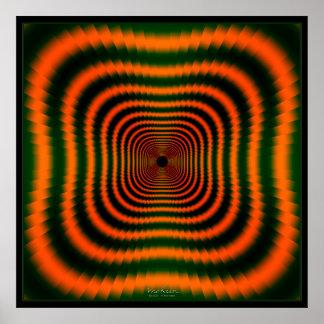Túnel anaranjado Dizzying Póster