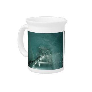 Túnel azul del hielo jarron
