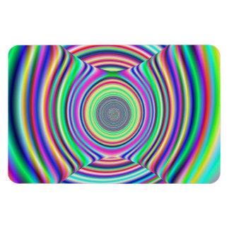 Túnel colorido del fractal iman