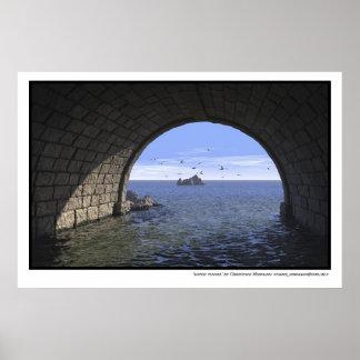 túnel de agua póster