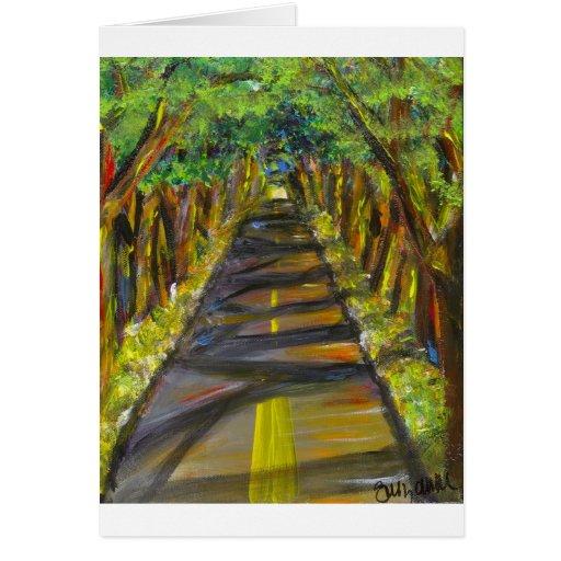túnel de árboles felicitaciones