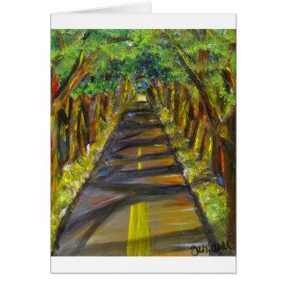 túnel de árboles tarjeta de felicitación