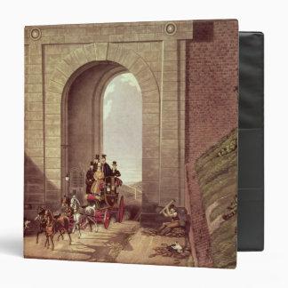 "Túnel de Highgate, grabado por la caza de George, Carpeta 1 1/2"""