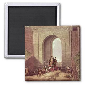 Túnel de Highgate, grabado por la caza de George,  Imán Cuadrado