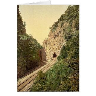Túnel de Hirschsprung R'y, bosque negro, Baden, ge Felicitación