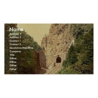 Túnel de Hirschsprung R'y, bosque negro, Baden, ge Tarjeta De Negocio