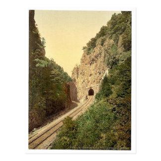 Túnel de Hirschsprung R'y, bosque negro, Baden, ge Postal