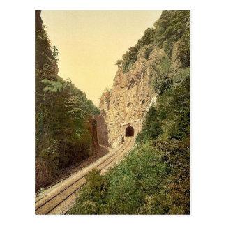 Túnel de Hirschsprung R'y, bosque negro, Baden, ge Tarjetas Postales