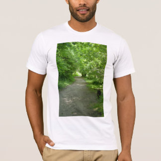 Túnel de la camiseta de los hombres de las hojas