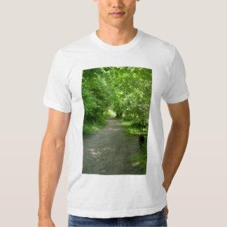Túnel de la camiseta de los hombres de las hojas remeras