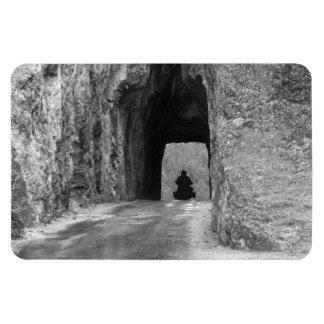Túnel de la carretera de las agujas imán foto rectangular