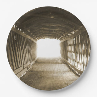 Túnel de la luz plato de papel 22,86 cm