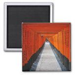 Túnel de las puertas rojas de la capilla en Fushim Imán De Frigorifico