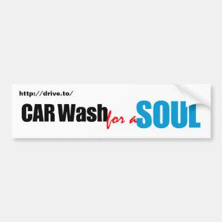 Túnel de lavado para un alma pegatina para auto