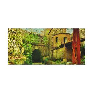 Túnel de mármol de la mina de Cararra, impresión Impresion De Lienzo