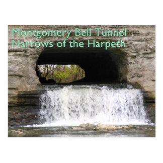 Túnel de Montgomery Bell - estrechos del Harpeth Postales