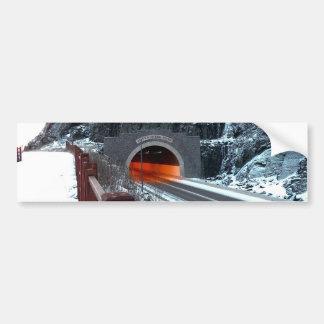Túnel de plata de la cala pegatina para auto