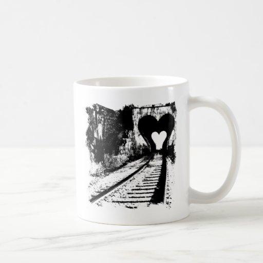 Túnel del amor taza básica blanca