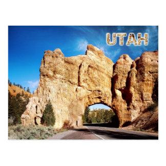 Túnel del camino, barranco rojo, Utah Postales