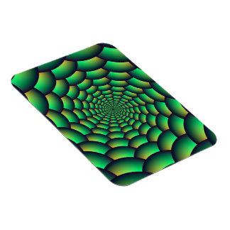Túnel del espiral de la bola del verde del imán de