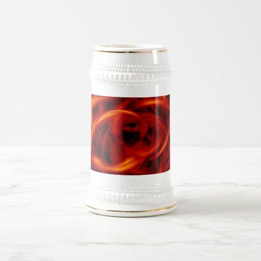 Túnel del fuego jarra de cerveza