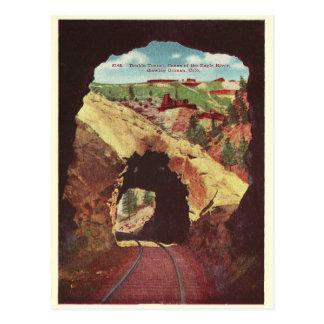 Túnel del tren de Colorado del vintage Tarjetas Postales