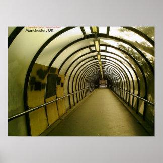 Túnel peatonal Subido-para arriba, Manchester, Póster