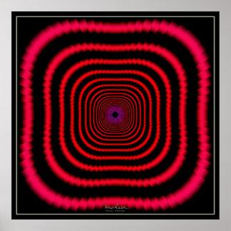 Túnel rojo Dizzying Póster