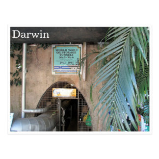 túneles del aceite de darwin ww2 tarjeta postal
