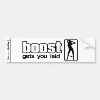 Tuner Addicts Boost Gets You Laid. Car Bumper Sticker