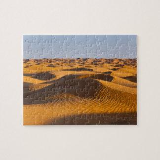 Túnez, área de Ksour, Ksar Ghilane, ergio magnífic Puzzle Con Fotos