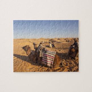 Túnez, área de Ksour, Ksar Ghilane, ergio magnífic Puzzles