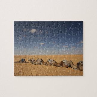 Túnez, área de Ksour, Ksar Ghilane, ergio magnífic Puzzles Con Fotos