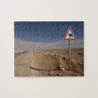 Túnez, área de Ksour, Ksar Ghilane, oleoducto Puzzle Con Fotos