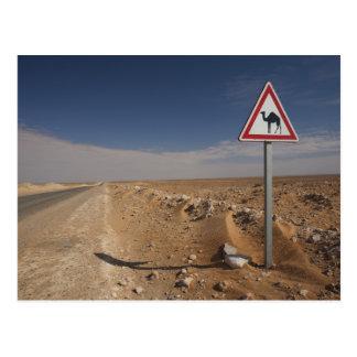 Túnez, área de Ksour, Ksar Ghilane, oleoducto Tarjeta Postal