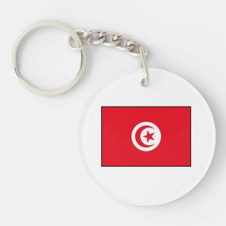 Túnez - bandera tunecina llavero redondo acrílico a doble cara