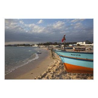 Túnez, Bon del casquillo, Hammamet, costa, Impresión Fotográfica