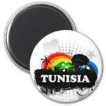 Túnez con sabor a fruta lindo iman para frigorífico