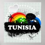 Túnez con sabor a fruta lindo posters