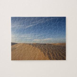Túnez, desierto del Sáhara, Douz, gran duna, oscur Puzzles