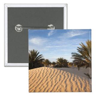 Túnez, desierto del Sáhara, Douz, gran duna, palma Pin Cuadrada 5 Cm
