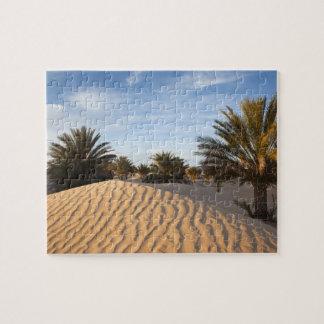 Túnez, desierto del Sáhara, Douz, gran duna, palma Rompecabeza