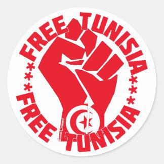 Túnez libre pegatinas redondas