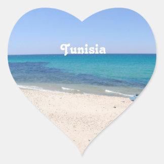 Túnez Pegatina De Corazón Personalizadas