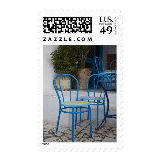Túnez, Sidi Bou dijo, sillas del café Sello