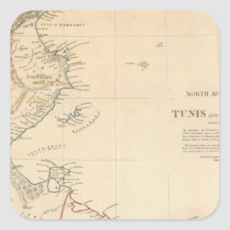 Túnez Trípoli Calcomanía Cuadradas Personalizadas
