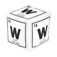 Tungsten chemical element symbol chemistry formula pouf