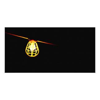 Tungsten light bulb card