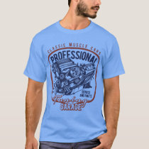 Tuning Garage Vintage Style Muscle Car T-Shirt