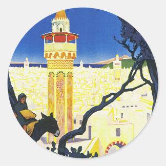 Tunis ~ LOrient Aux Portes de Marseille Classic Round Sticker